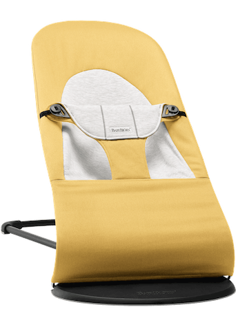 Bouncer Balance Soft in Yellow/Grey Cotton/Jersey - BABYBJÖRN