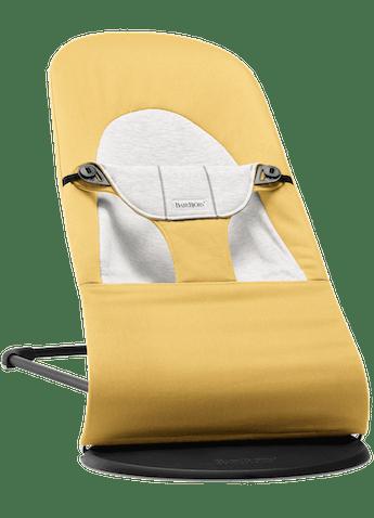 Bouncer Balance Soft Yellow Grey Cotton Jersey - BABYBJÖRN