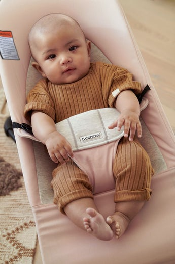 Bouncer Balance Soft Light pink Gray in Cotton jersey - BABYBJÖRN