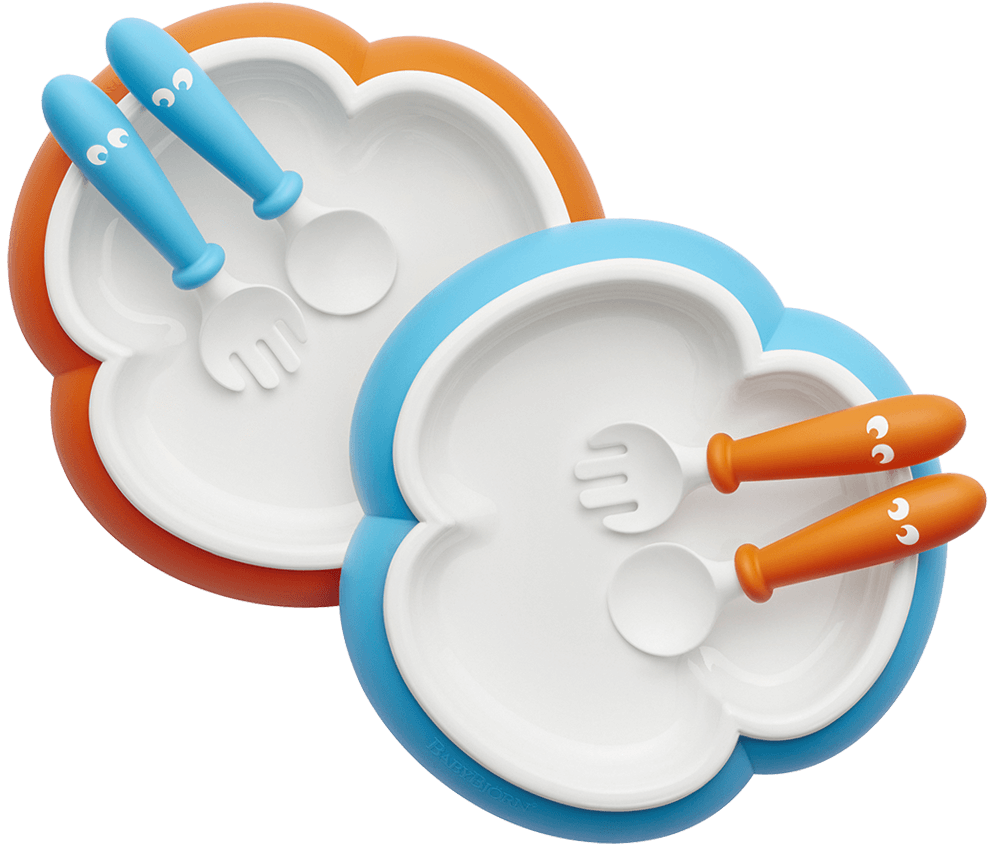 Baby Plate ...  sc 1 st  Baby Bjorn & Baby plate set including baby silverware | BABYBJÖRN