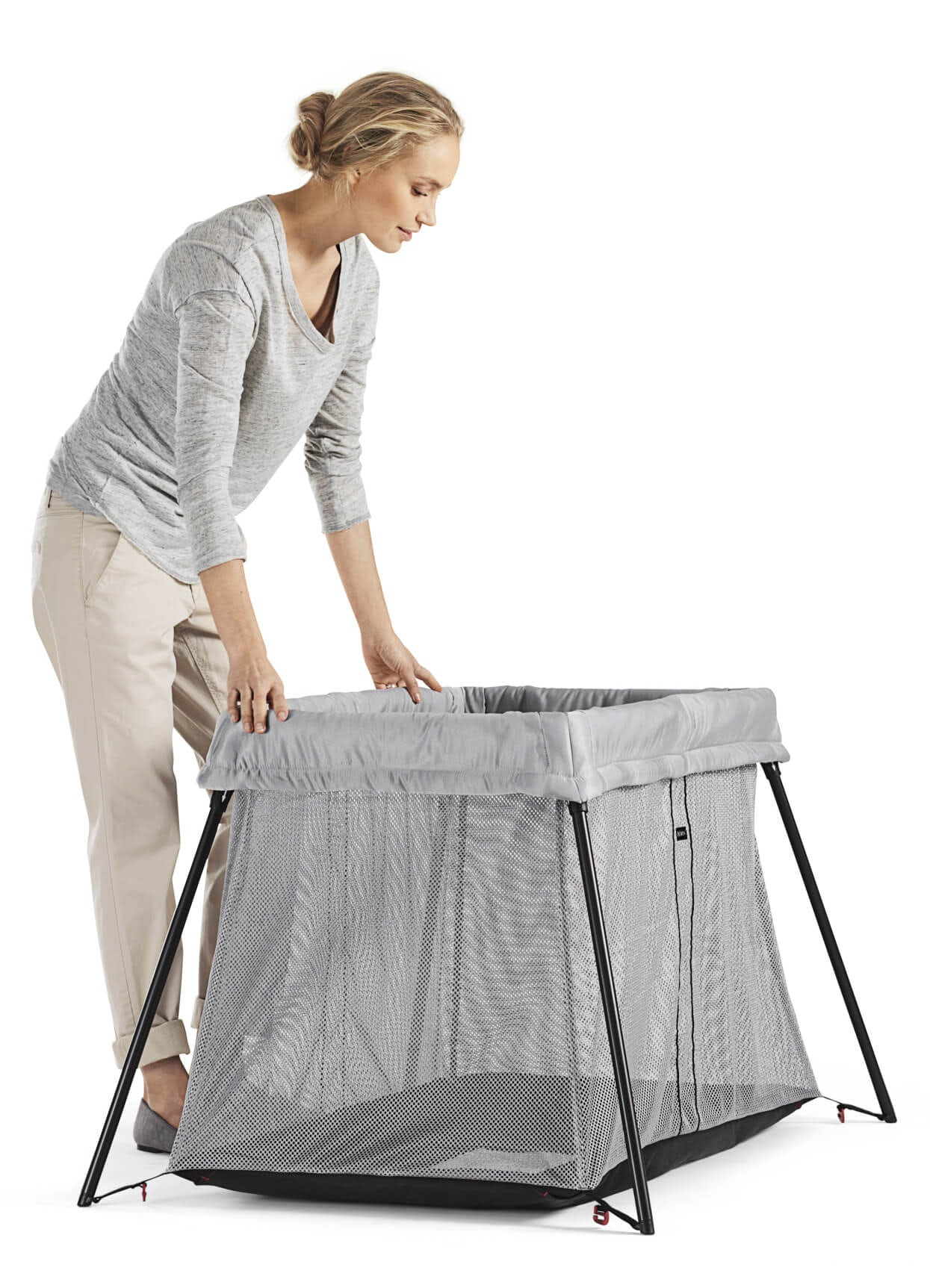 Travel Crib Light Perfect At Home Amp Away Babybj 214 Rn