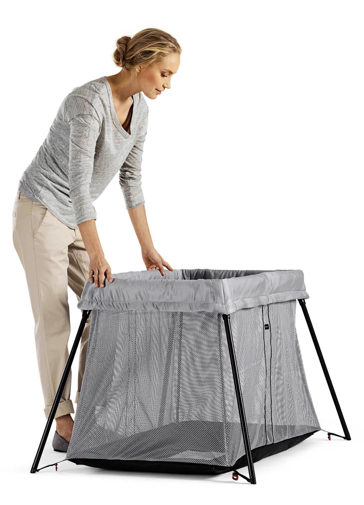 Travel Crib Light Perfect At Home Amp Away Babybj 214 Rn