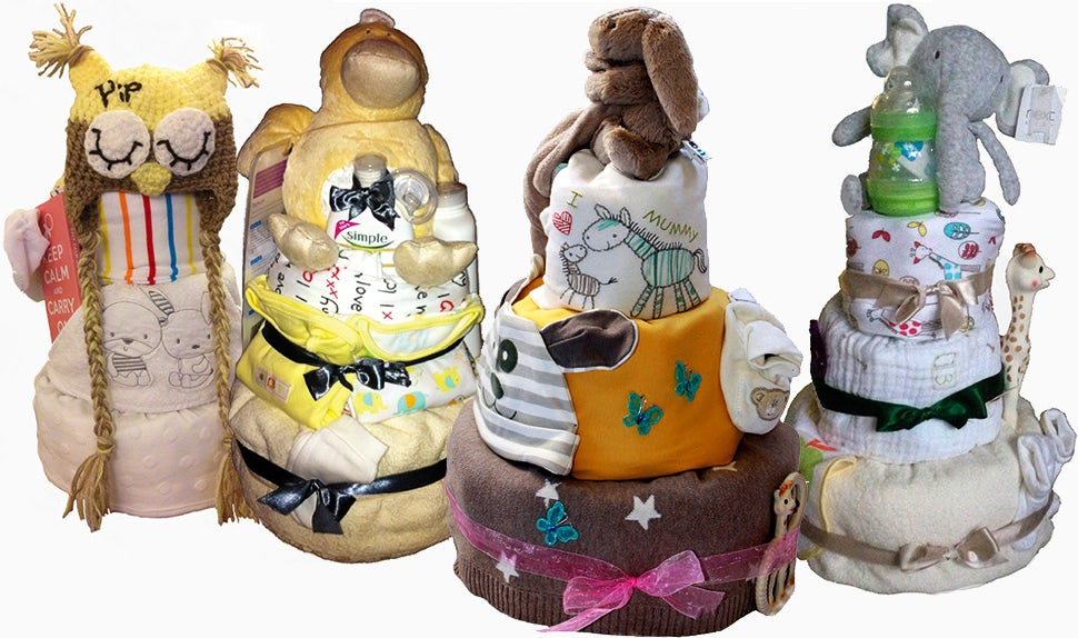 BABYBJÖRN Magazine – A baby shower present to desire, a diaper cake full of babyshower presents.