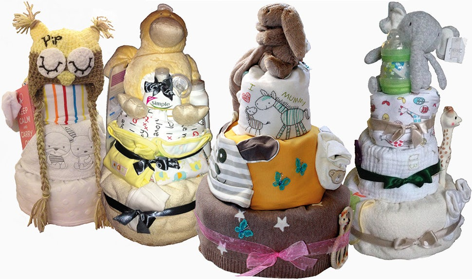 how to make a baby diaper cake step by step