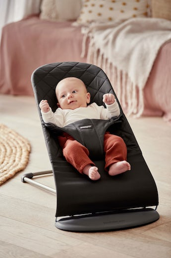 Bouncer Bliss Black soft quilted Cotton - BABYBJÖRN