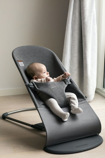 Bouncer Bliss Charcoal Gray 3D Jersey - BABYBJÖRN