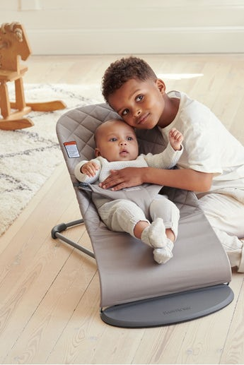 Bouncer Bliss Sand Gray Cotton - BABYBJÖRN