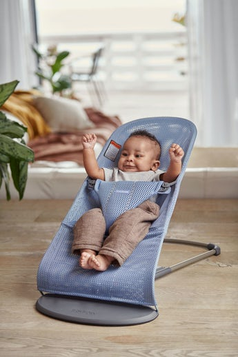 Baby Bouncer in Slate blue Mesh - BABYBJÖRN