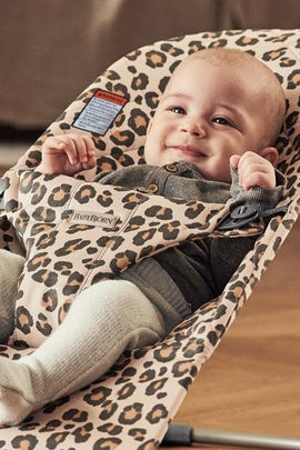 Bouncer Bliss Beige/Leopard Cotton - BABYBJÖRN