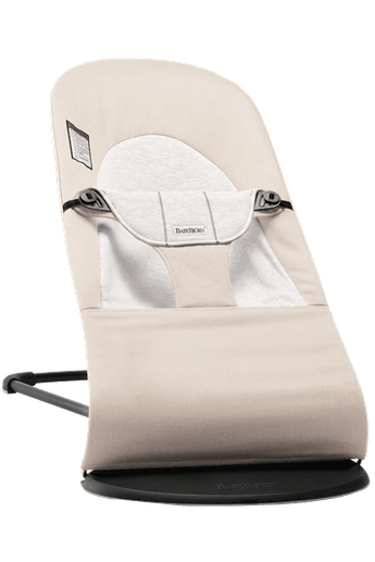 Baby Bouncer Balance Soft in Beige/Gray Cotton-Jersey - BABYBJÖRN