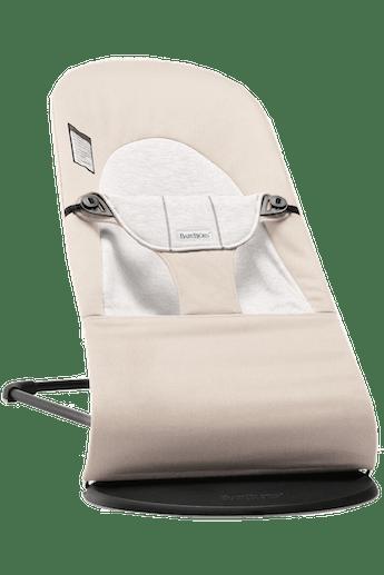 Siège Sauteur Balance Soft Beige/Gris Cotton Jersey - BABYBJÖRN