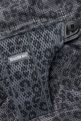Fabric Seat in Anthracite Leopard Mesh