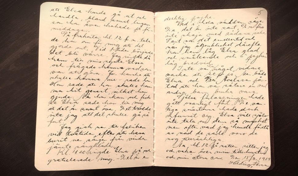 BABYBJÖRN Magazine – journal intime avec récit d'accouchement de 1919, rédigé par un père.