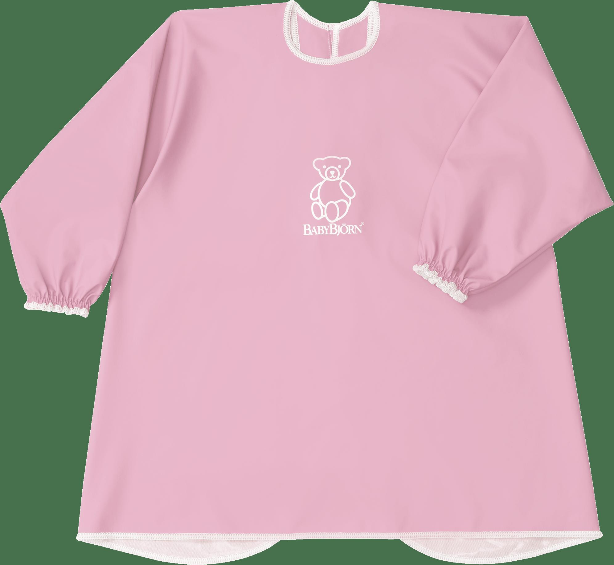 d67f495e7dfa BABYBJÖRN Long Sleeve Bib in pink BPA-free plastic, bib and apron in one