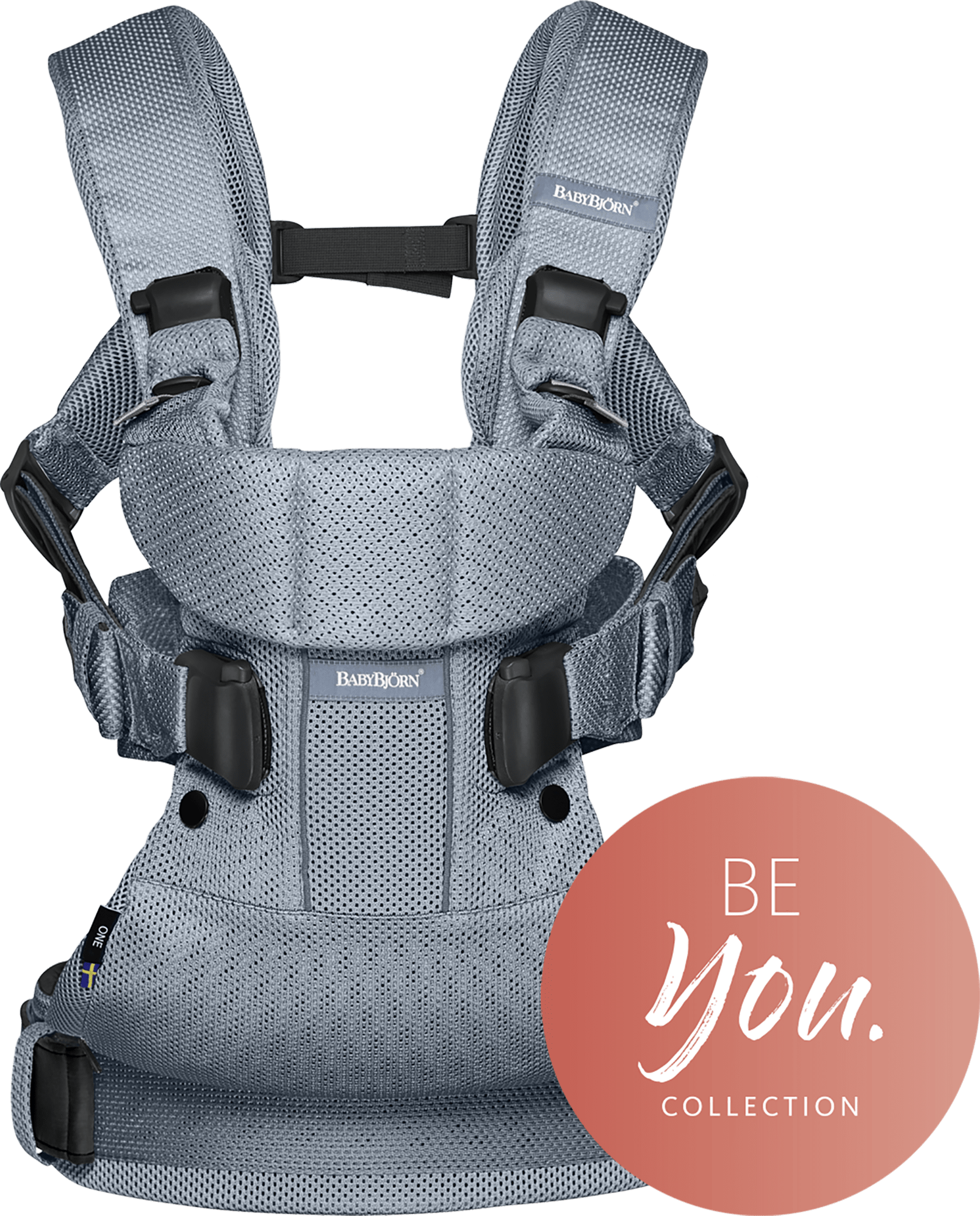 BABYBJÖRN Baby Carrier One Air in dusk blue mesh, an ergonomic baby carrier perfect for newborn up to 3 years.