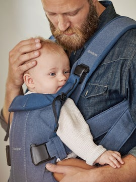 Baby Carrier One in Blue cotton-mix - BABYBJÖRN