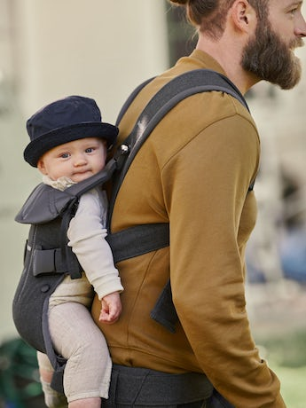 Baby Carrier One in Dark Gray Cotton - BABYBJÖRN