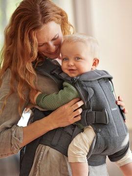 Porte-bébé One en Gris foncé Cottonmix - BABYBJÖRN