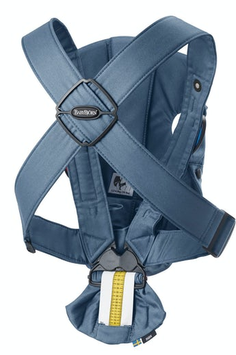 BABYBJÖRN Baby Carrier Mini in Vintage Indigo soft Cotton - perfect for newborn