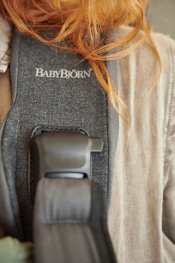Baby Carrier One Classic Denim Gray Dark Gray Cotton - 4 positions, facing in, facing out, newborn and back carrying BABYBJÖRN