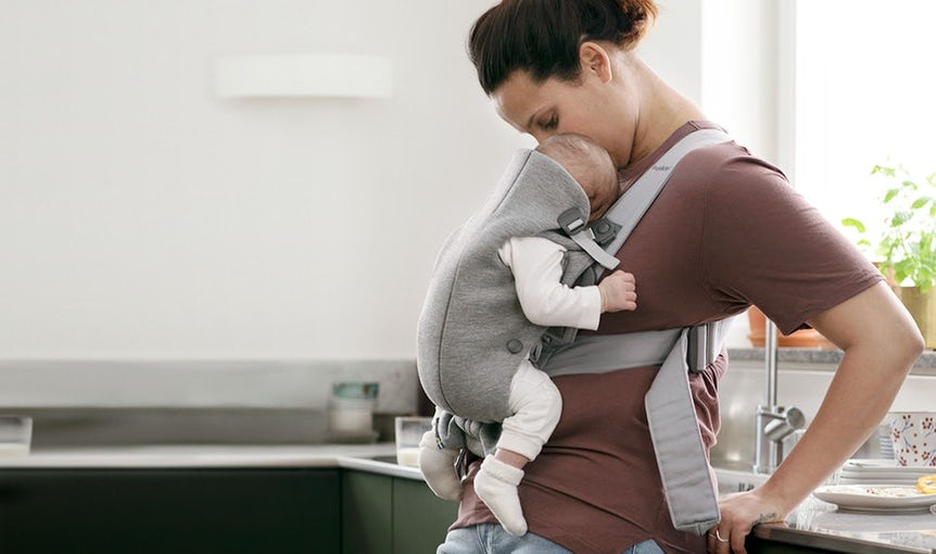 Small, soft and easy-to-use baby carrier for a newborn – BABYBJÖRN Baby Carrier Mini