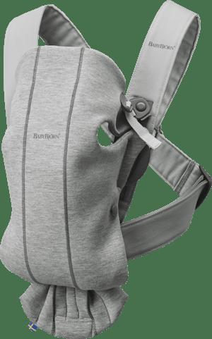 Baby Carrier Mini in Light Gray 3D Jersey - BABYBJÖRN