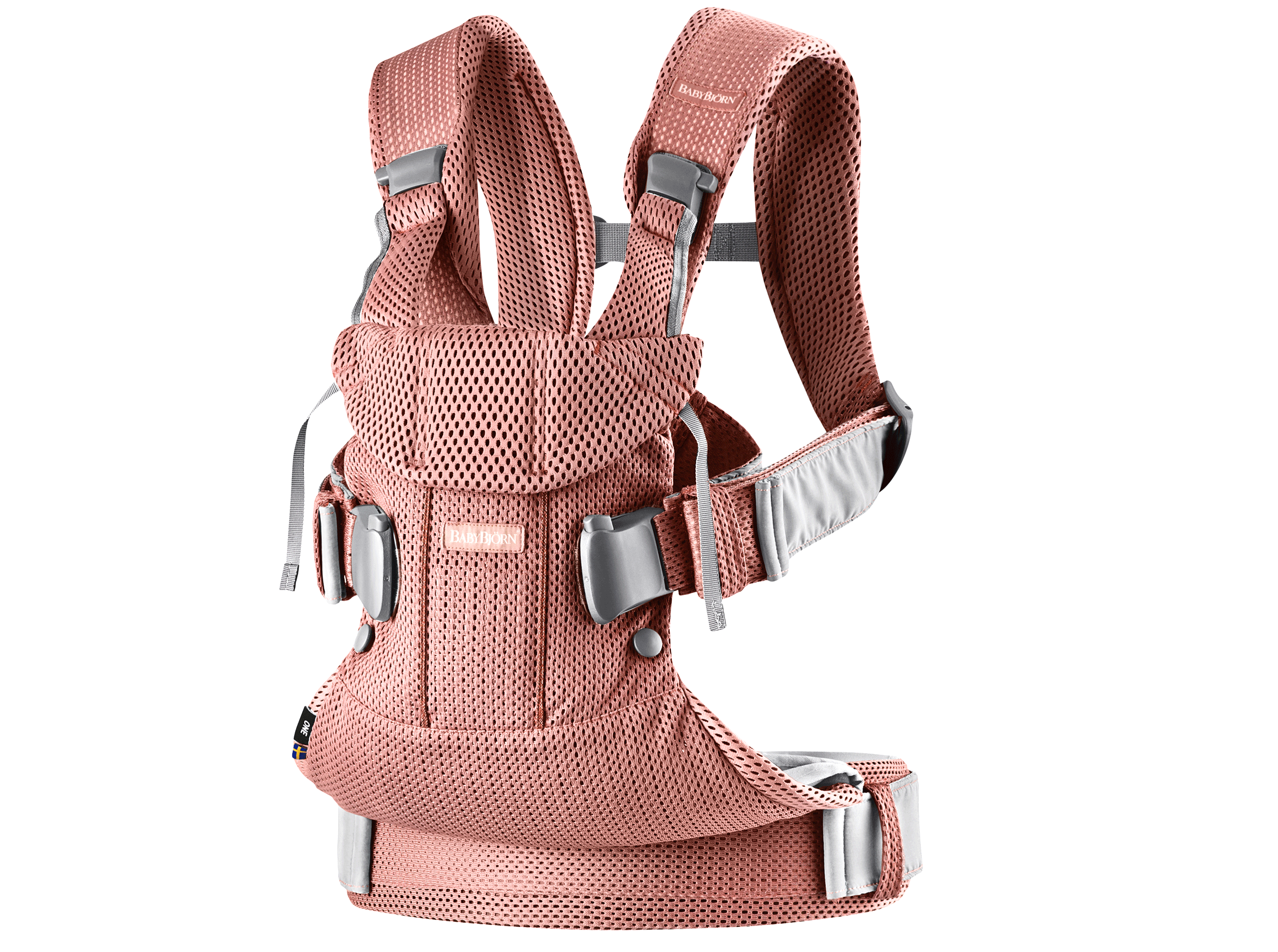 BABYBJÖRN Baby Carrier One Air, Vintage rose, Mesh – Baby Power Collection