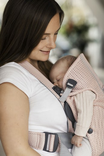 Baby Carrier Mini Pearly Pink Mesh