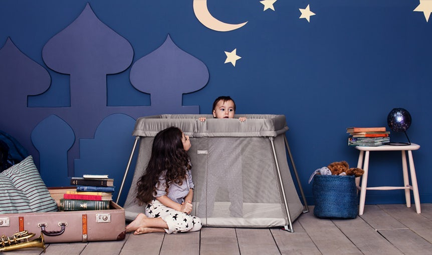 BABYBJÖRN Travel Crib Easy Go in Greige