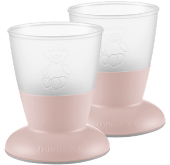 BABYBJORN Baby Cup, 2-pack, Powder Pink