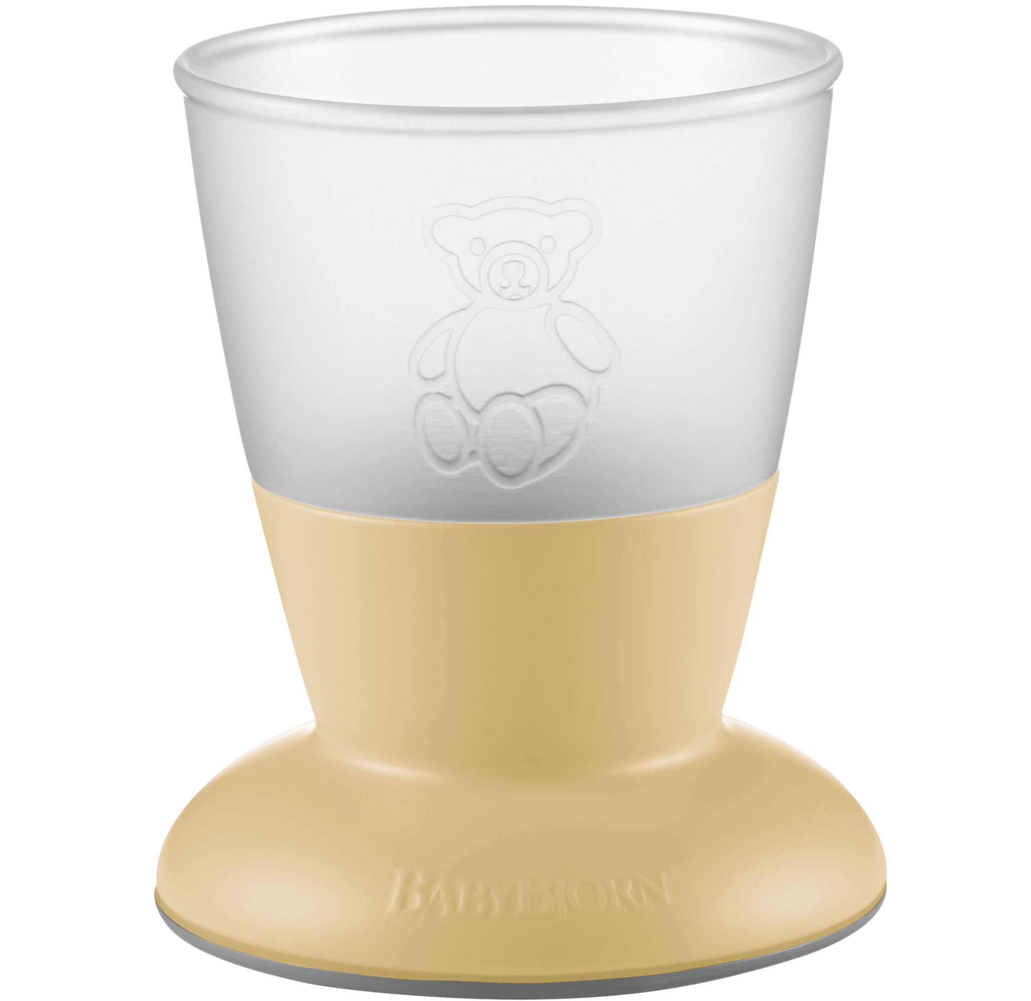 Baby Cup, 2-pack, Powder yellow, BPA-free plastic made in Sweden - BABYBJÖRN