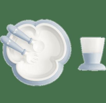 Baby feeding set with smart design makes self-feeding easy, Powder blue - BABYBJÖRN