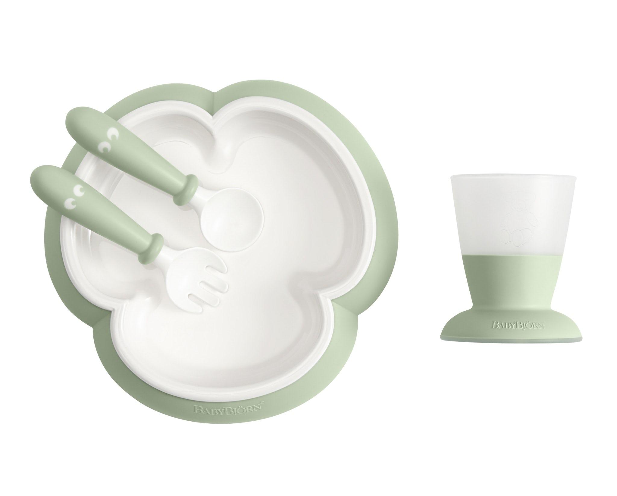 Baby Feeding Set Powder Green-BABYBJÖRN