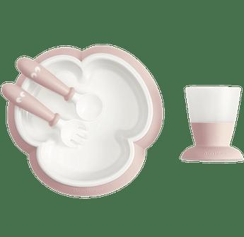 Ensemble Repas Bébé au design ingénieux qui aide l'enfant à manger seul, Rose pastel - BABYBJÖRN