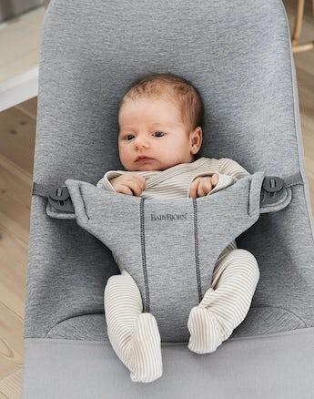 NEW! BABYBJORN Bouncer Bliss - Light Grey 3D Jersey