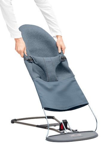 BABYBJÖRN Bouncer Bliss Dove Blue, 3D Jersey