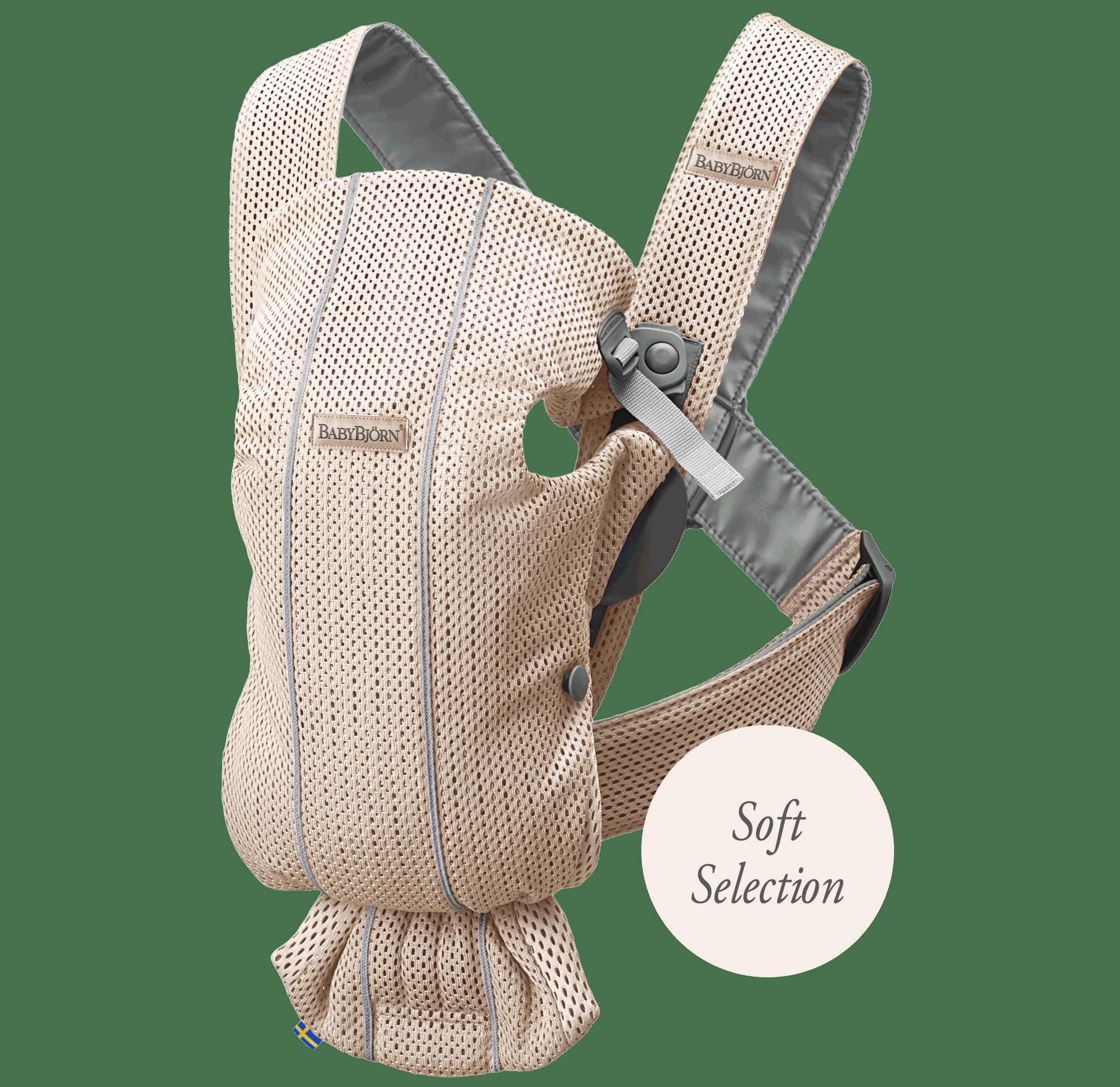 Porte-bébé Mini Rose nacré 3D Mesh Soft Selection, le porte-bébé idéal pour les nouveau-nés - BABYBJÖRN