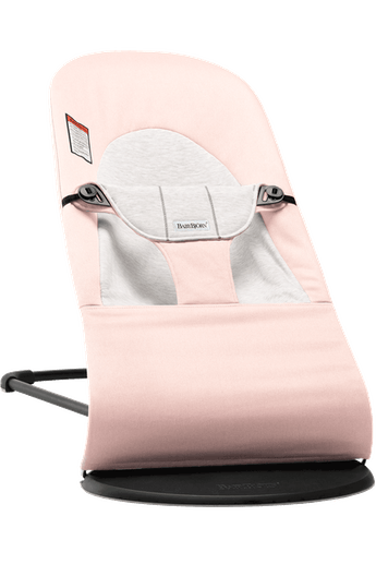 Baby Bouncer Balance Soft in Light Pink/Gray Cotton-Jersey - BABYBJÖRN