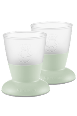 Baby Cup Powder Green, 2-pack - BABYBJÖRN
