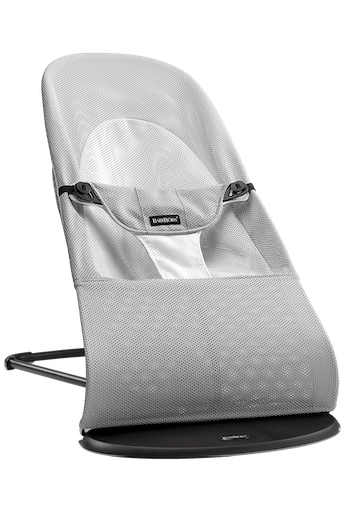 Bouncer Balance Soft in Silver/White Mesh - BABYBJÖRN