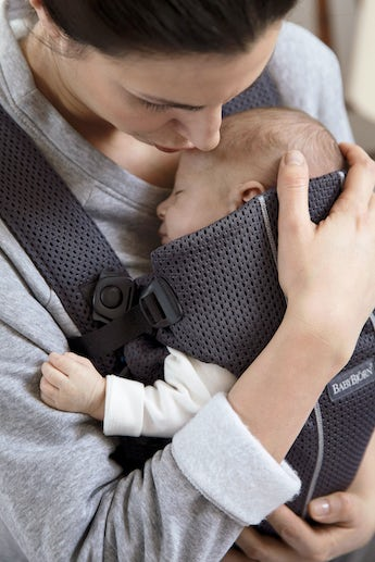 Baby Carrier Mini in Anthracite airy 3D Mesh - BABYBJÖRN