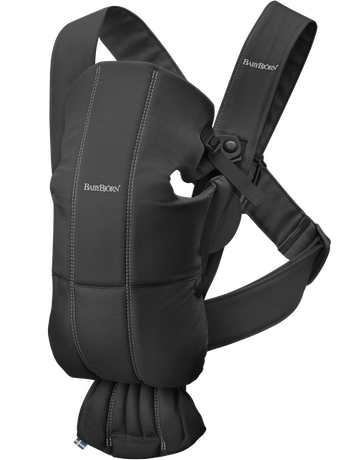 Baby Carrier Mini in Black soft Cotton - BABYBJÖRN