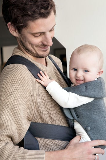 Baby Carrier Mini Darkgrey in supersoft 3D Jersey - BABYBJÖRN