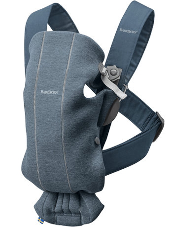 Baby Carrier Mini Dove Blue in supersoft 3D Jersey - BABYBJÖRN