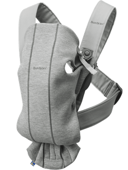 Baby Carrier Mini in Light Grey supersoft 3D Jersey - BABYBJÖRN