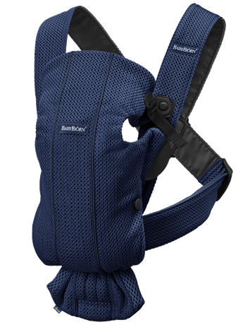 Baby Carrier Mini in Navy Blue airy 3D Mesh - BABYBJÖRN