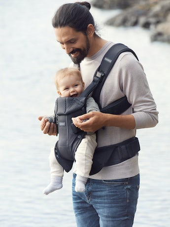 Baby Carrier One Air Anthracite airy 3D Mesh - BABYBJÖRN