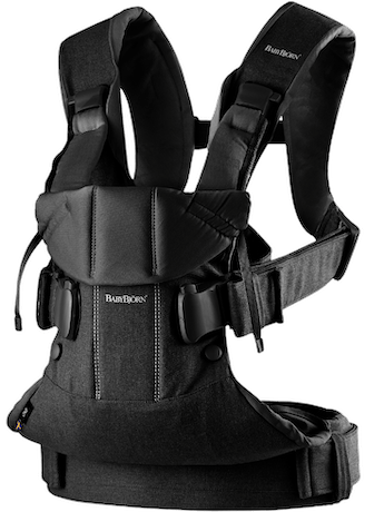 Baby Carrier One in Black Cotton Mix - BABYBJÖRN