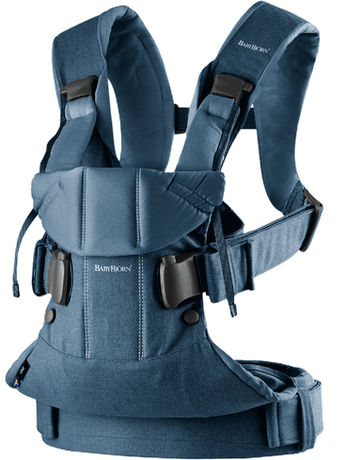 Baby Carrier One in Classic Denim/Midnight Blue Cotton Mix - BABYBJÖRN