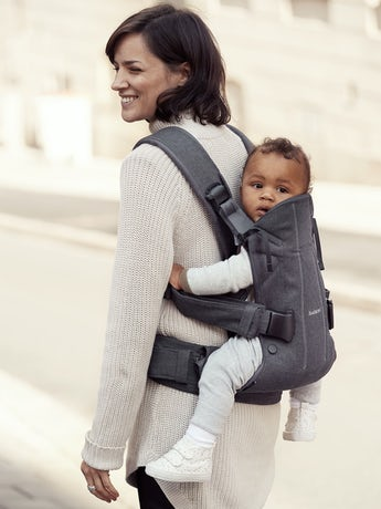 Baby Carrier One in Denim Grey/Dark Grey Cotton Mix - BABYBJÖRN